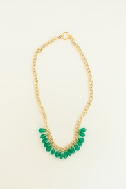 This is a fair-trade beaded chunky statement necklace.